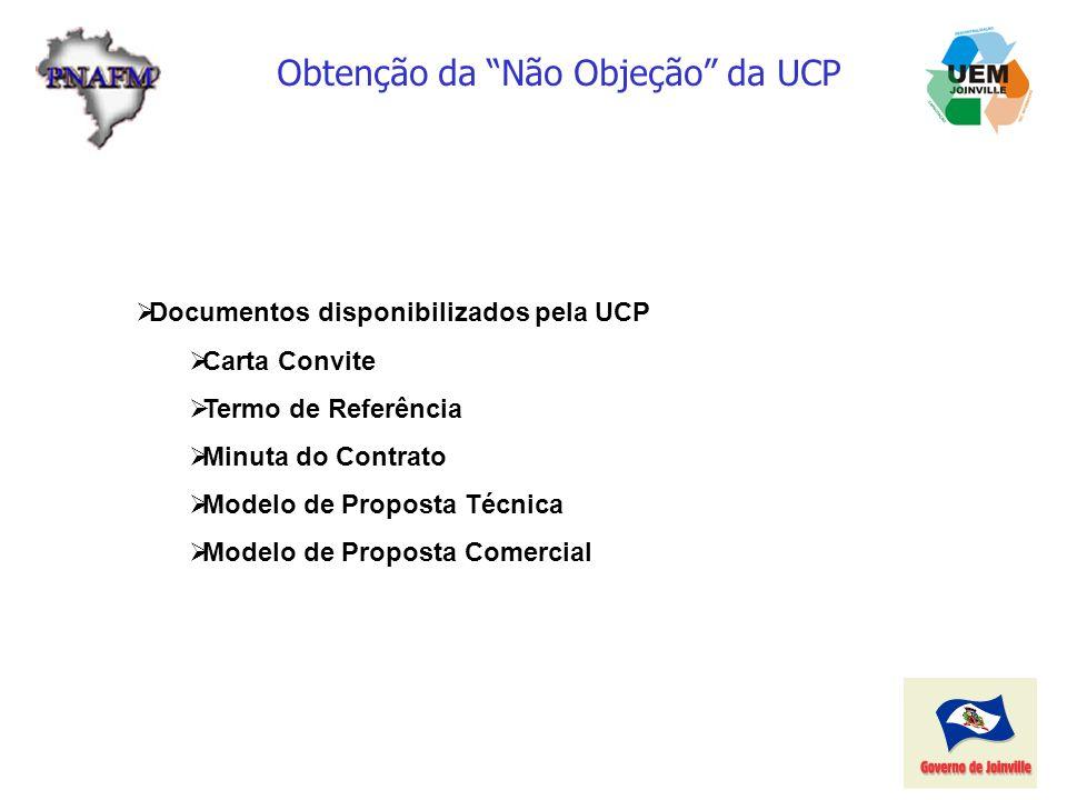 Obtenção da Não Objeção da UCP