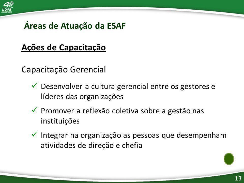 Áreas de Atuação da ESAF