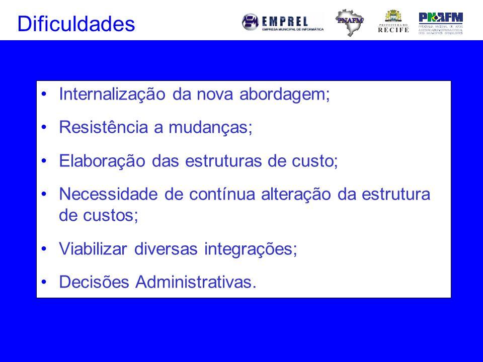Dificuldades Internalização da nova abordagem; Resistência a mudanças;