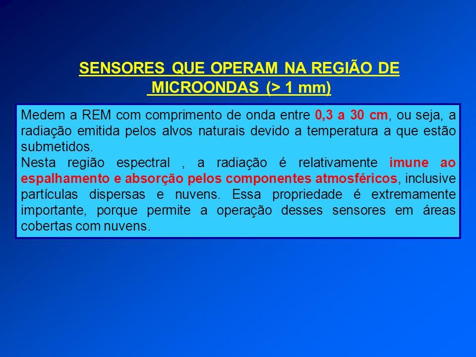SENSORES QUE OPERAM NA REGIÃO DE