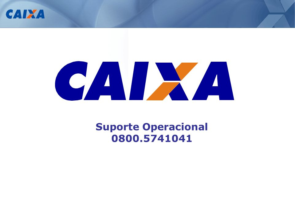 Suporte Operacional 0800.5741041