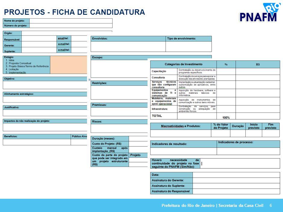 PROJETOS - FICHA DE CANDIDATURA