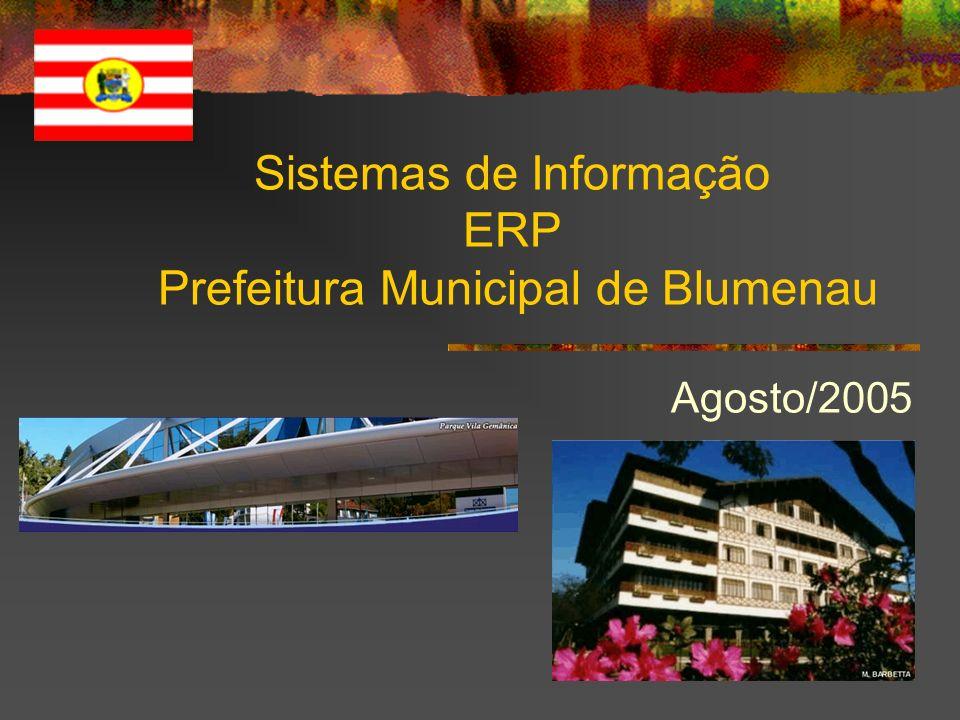 Sistemas de Informação ERP Prefeitura Municipal de Blumenau