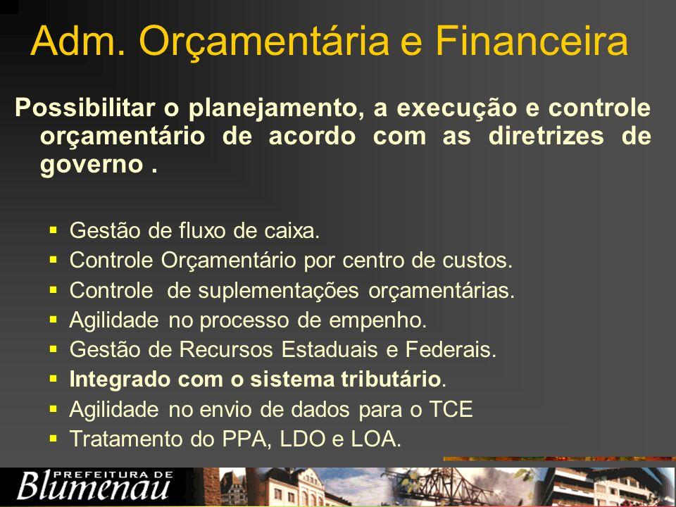 Adm. Orçamentária e Financeira