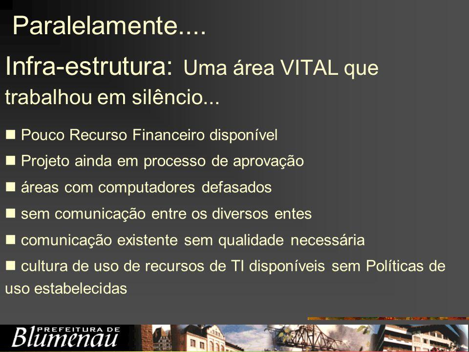 Infra-estrutura: Uma área VITAL que trabalhou em silêncio...