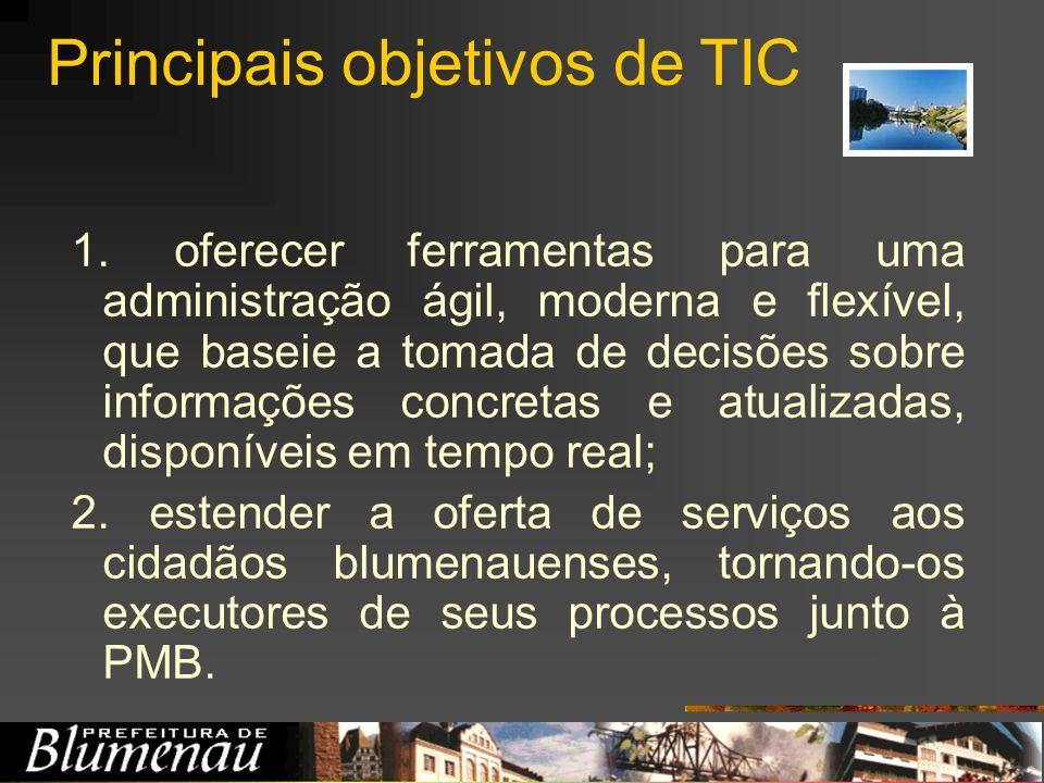 Principais objetivos de TIC