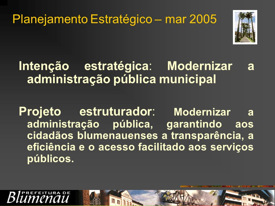 Planejamento Estratégico – mar 2005