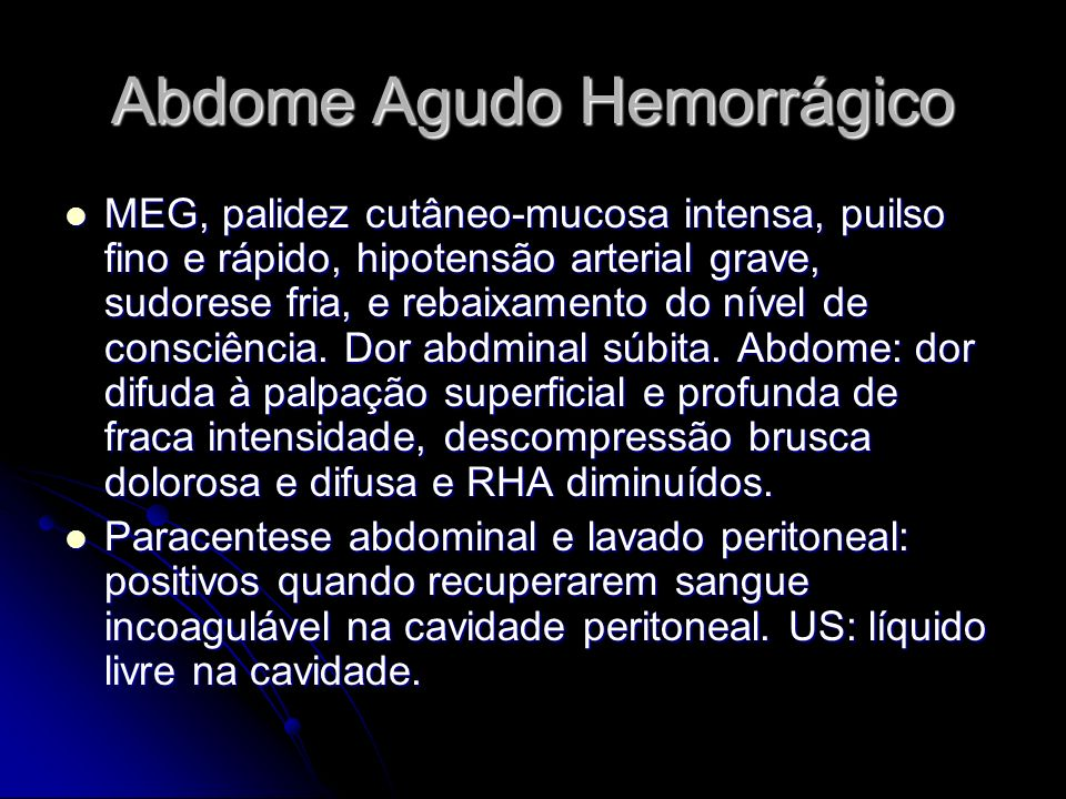 Abdome Agudo Hemorrágico