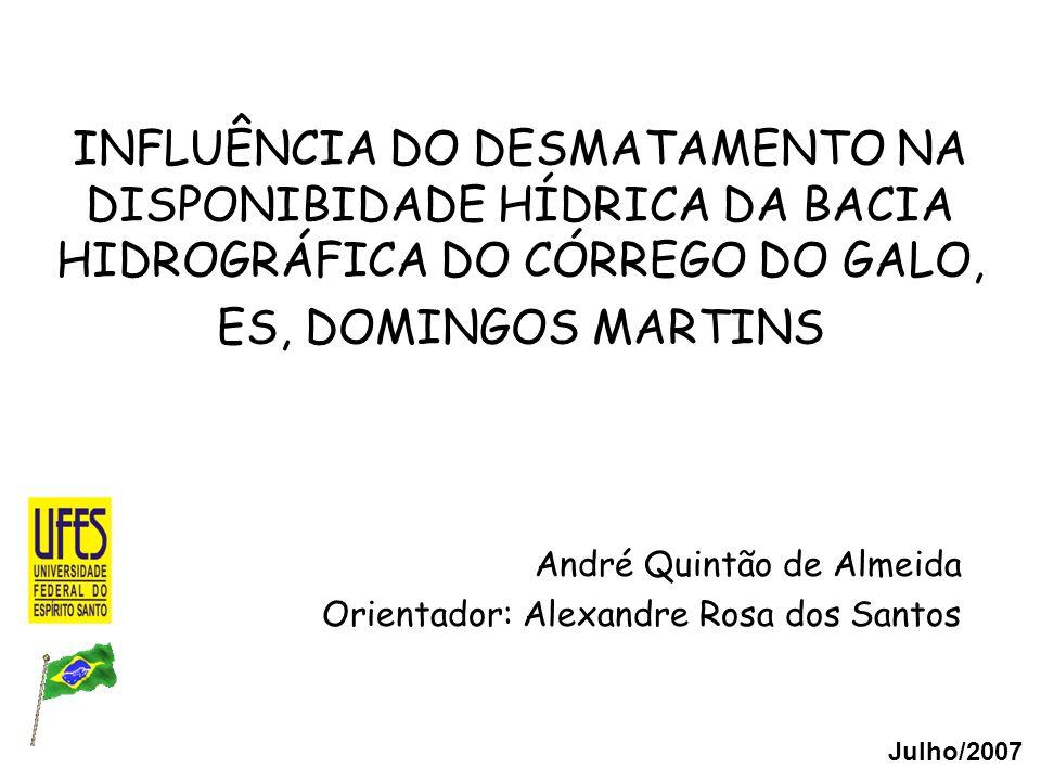 André Quintão de Almeida Orientador: Alexandre Rosa dos Santos