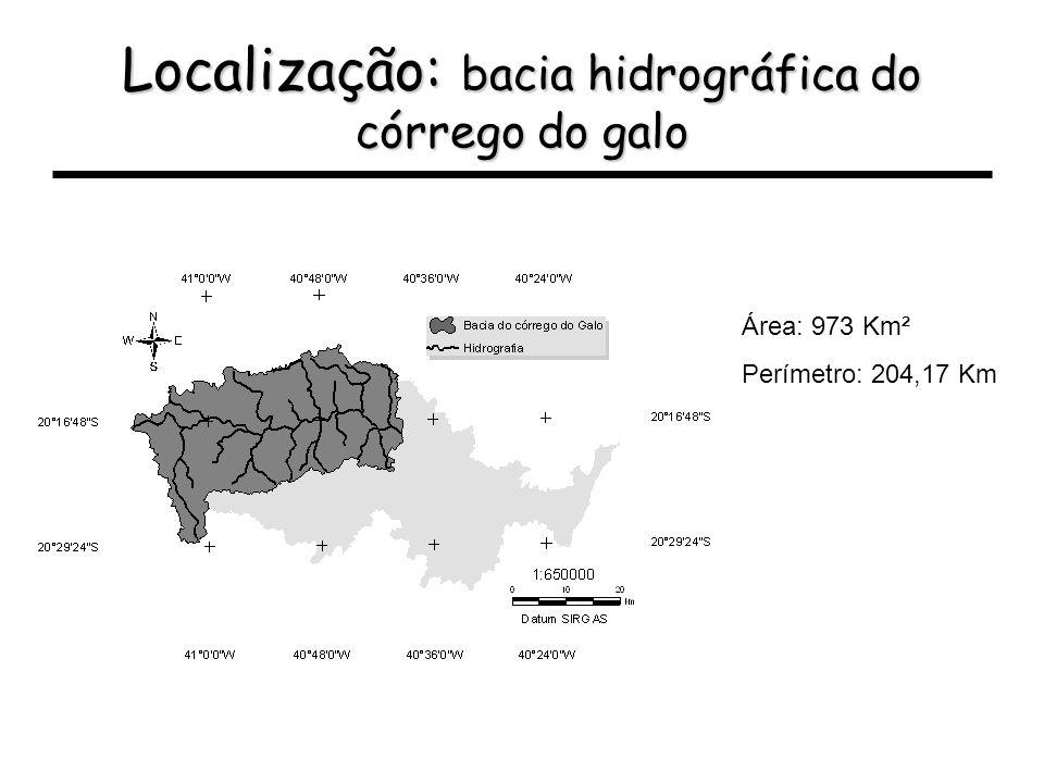 Localização: bacia hidrográfica do córrego do galo