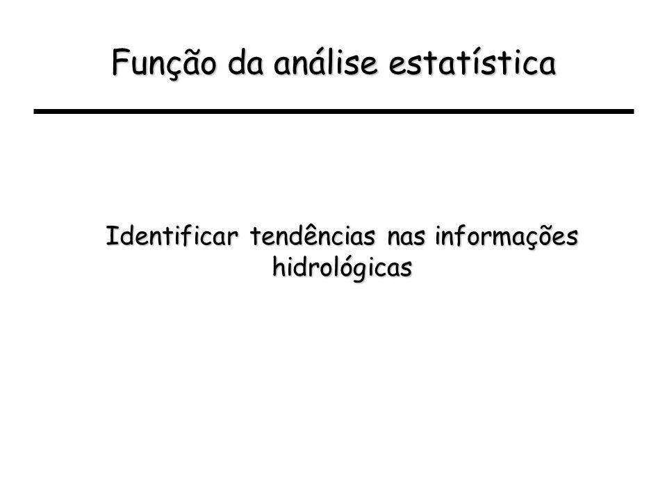 Função da análise estatística