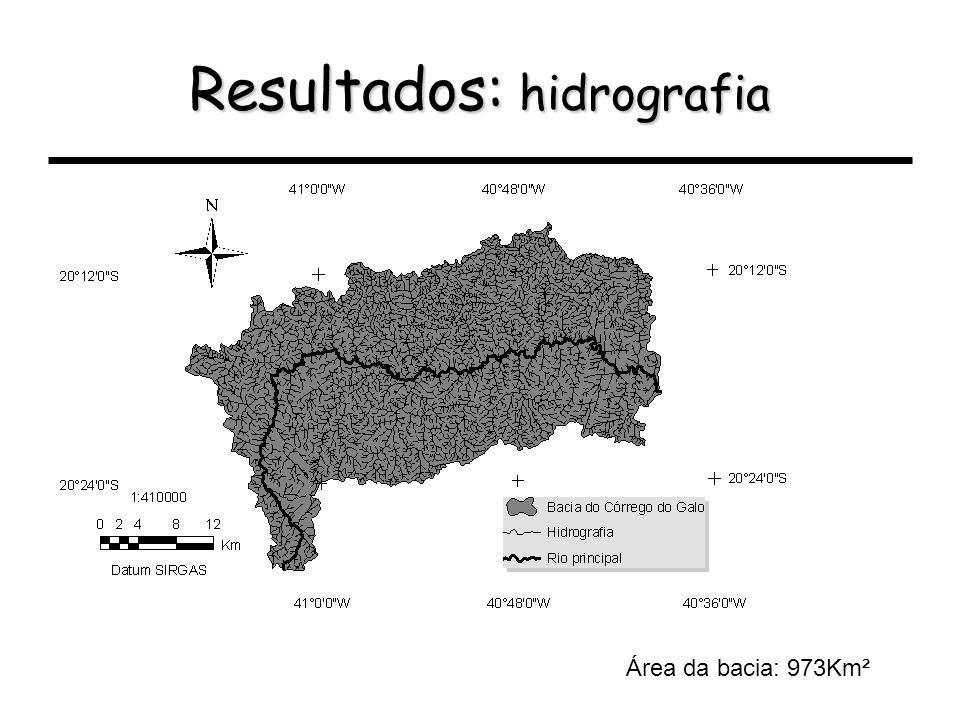 Resultados: hidrografia