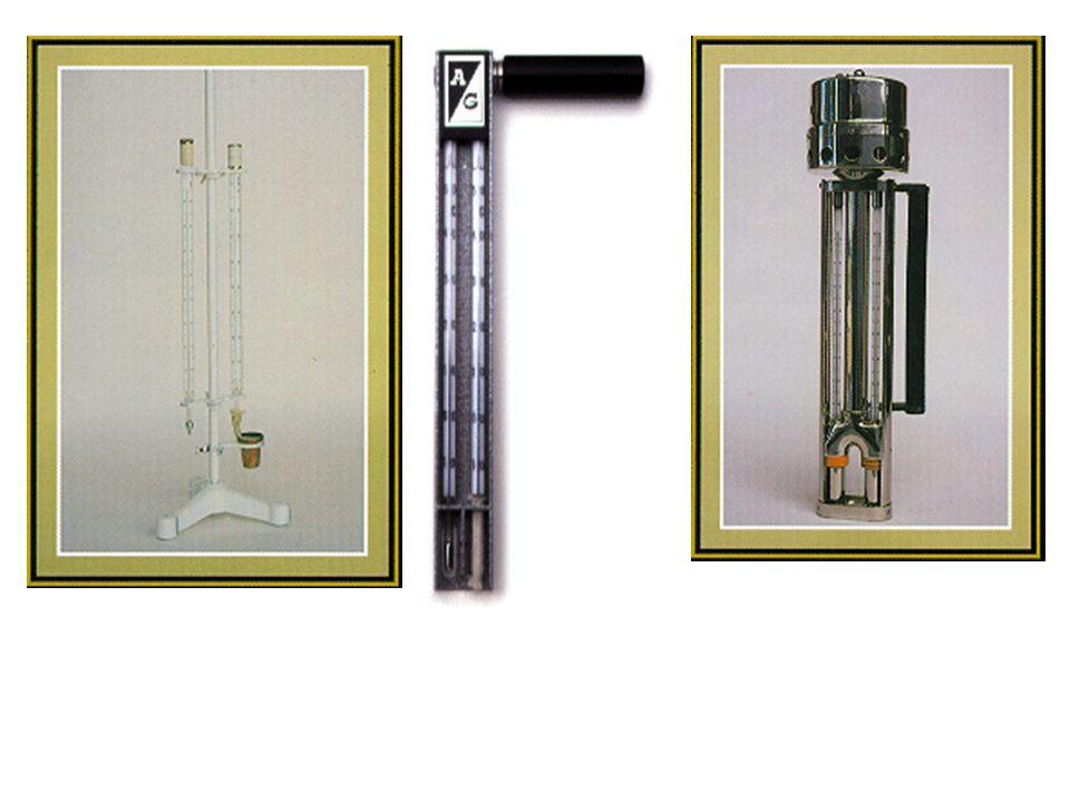 Psicrômetros. (a) aspirado (b) de funda e (c) com ventilação natural.