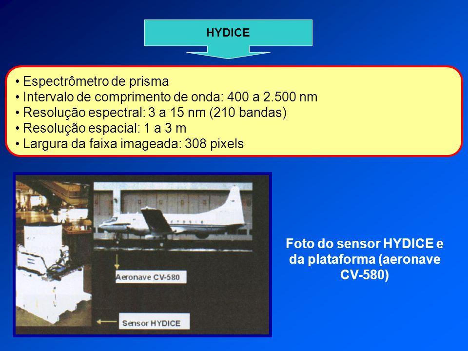 Foto do sensor HYDICE e da plataforma (aeronave CV-580)