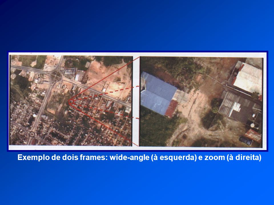 Exemplo de dois frames: wide-angle (à esquerda) e zoom (à direita)