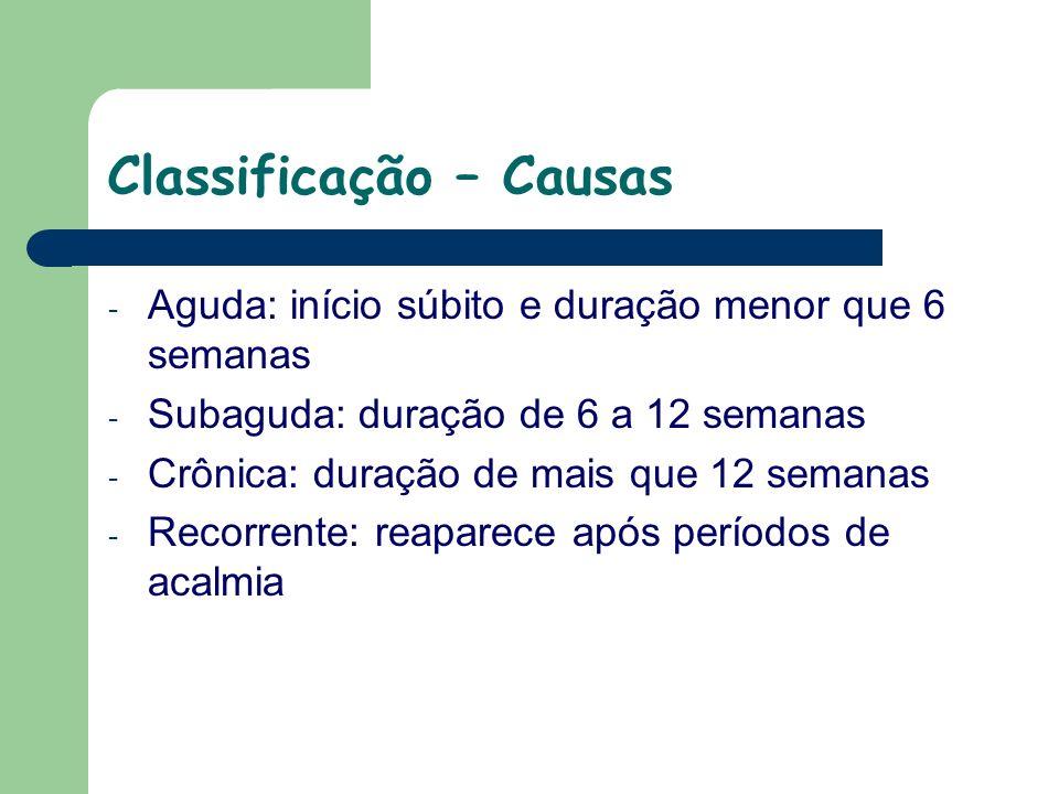 Classificação – Causas