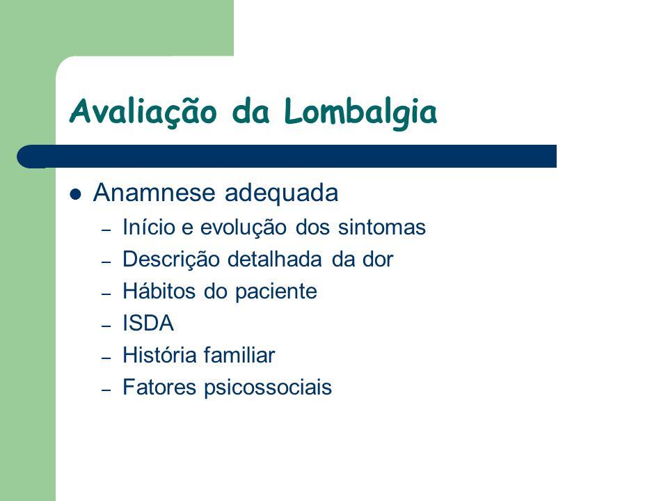 Avaliação da Lombalgia