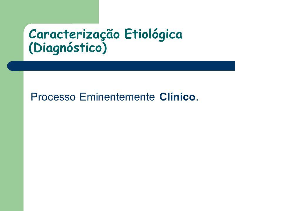 Caracterização Etiológica (Diagnóstico)