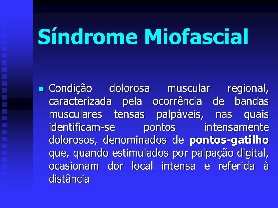 Síndrome Miofascial