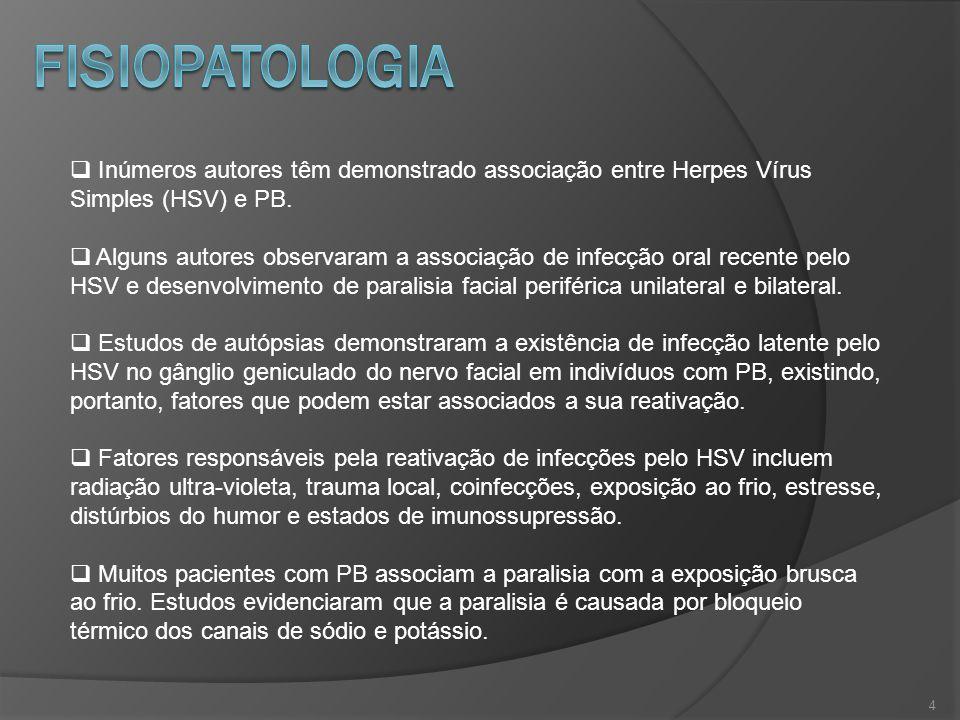 fISIOpatologia Inúmeros autores têm demonstrado associação entre Herpes Vírus Simples (HSV) e PB.