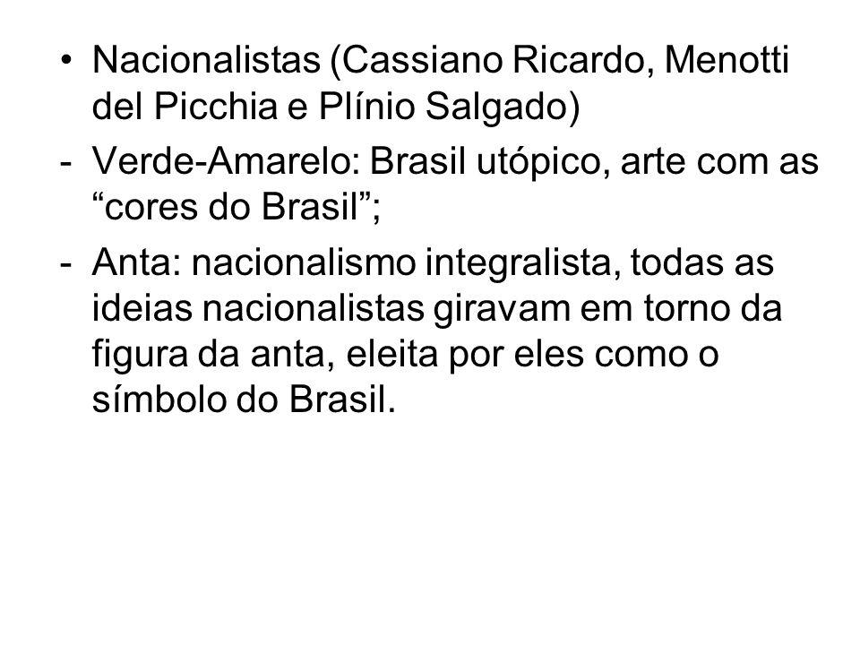 Nacionalistas (Cassiano Ricardo, Menotti del Picchia e Plínio Salgado)