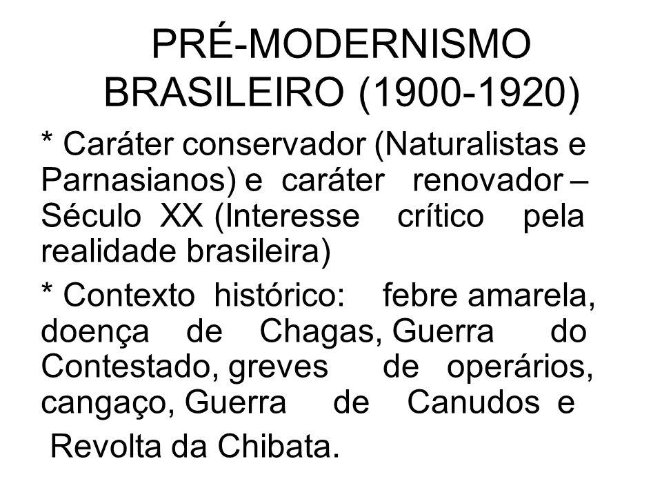 PRÉ-MODERNISMO BRASILEIRO (1900-1920)
