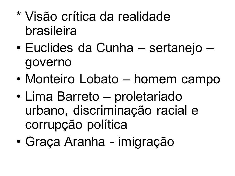 * Visão crítica da realidade brasileira