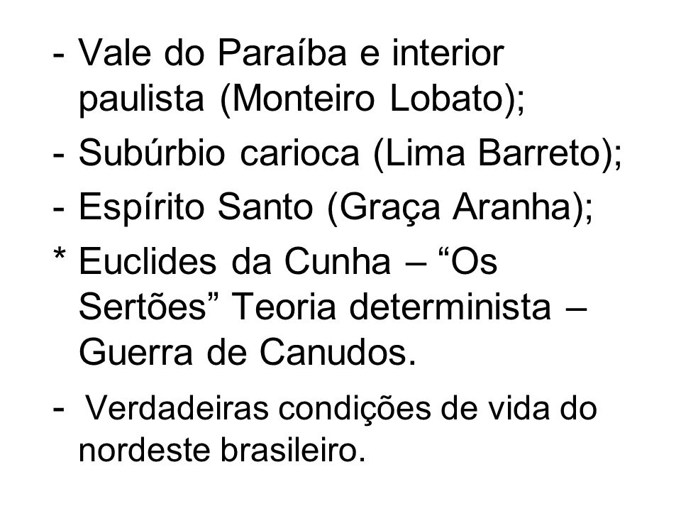 Vale do Paraíba e interior paulista (Monteiro Lobato);