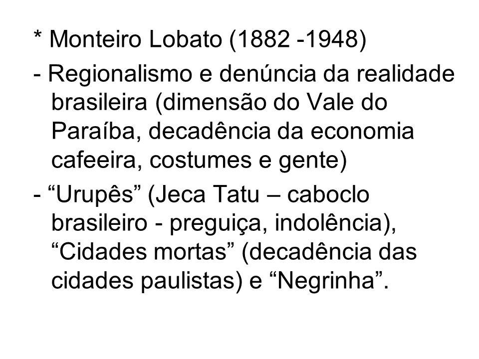 * Monteiro Lobato (1882 -1948)