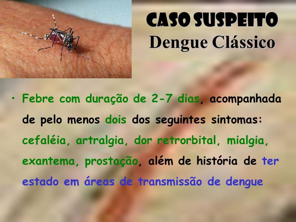 Caso Suspeito Dengue Clássico