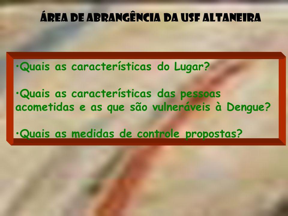 Área de abrangência da USF Altaneira