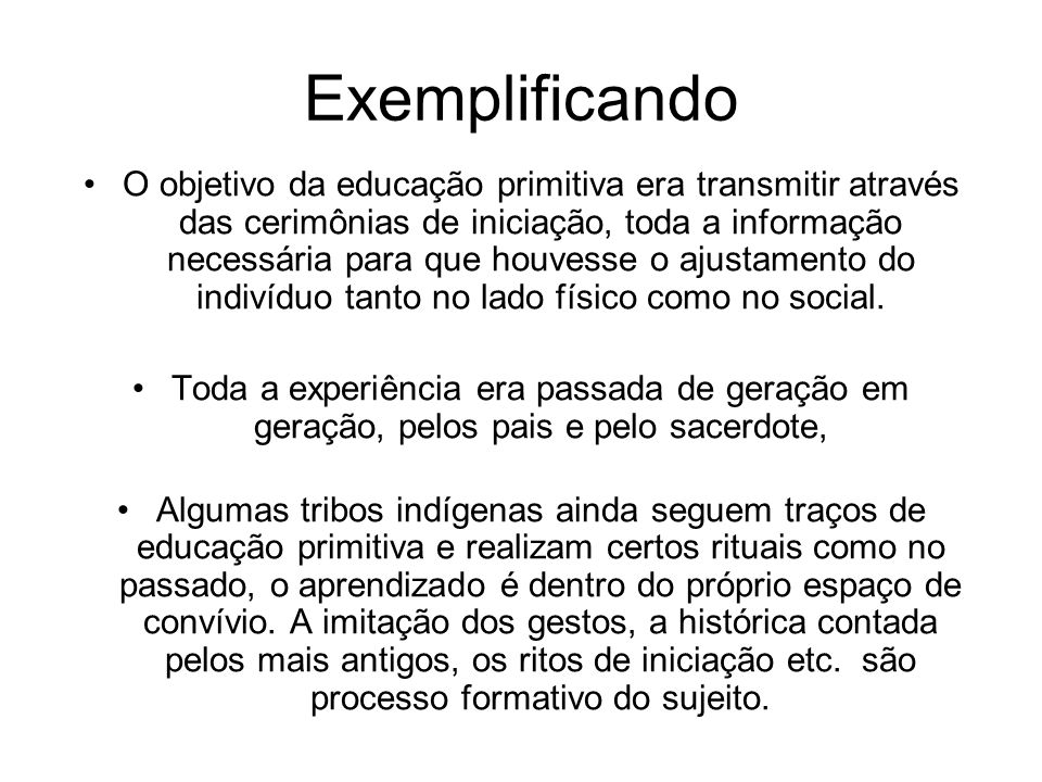 Exemplificando