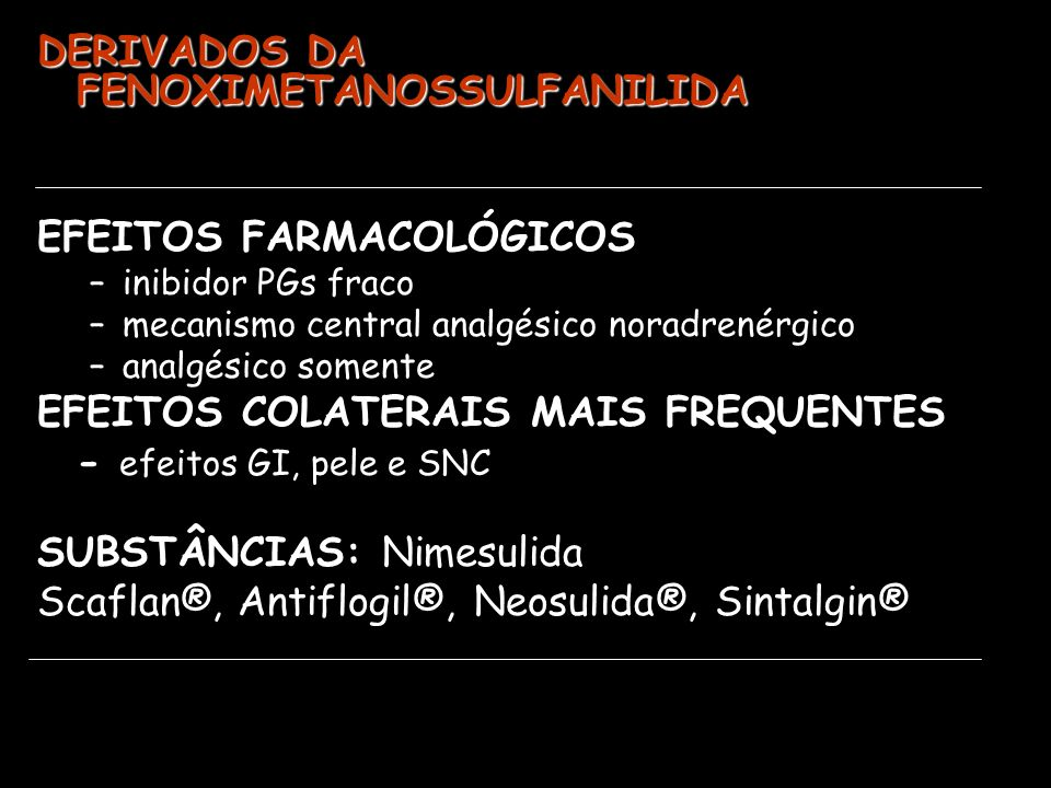 DERIVADOS DA FENOXIMETANOSSULFANILIDA
