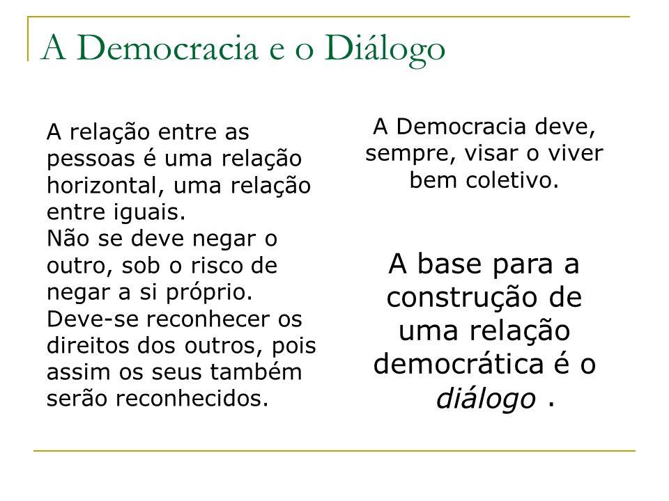 A Democracia e o Diálogo