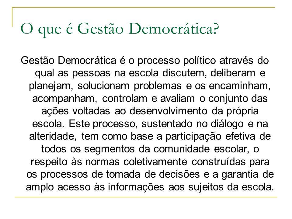 O que é Gestão Democrática