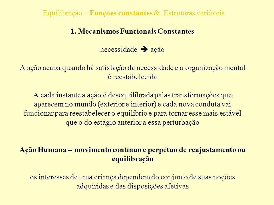 Equilibração = Funções constantes & Estruturas variáveis 1
