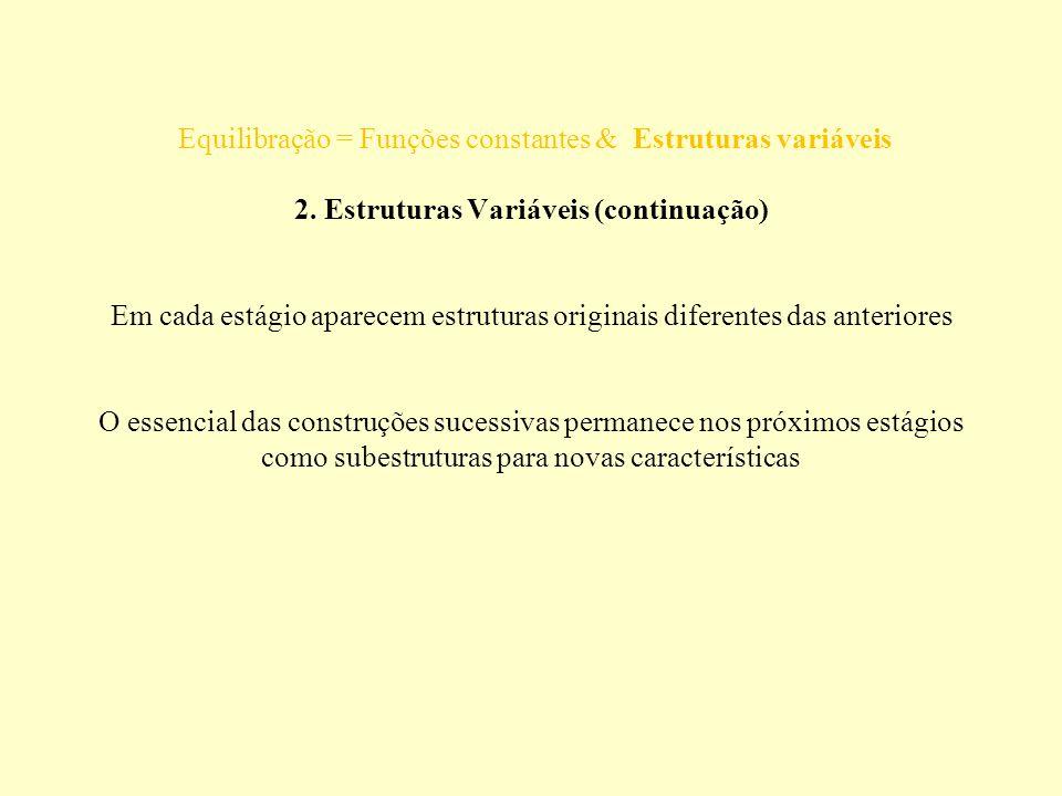 Equilibração = Funções constantes & Estruturas variáveis 2