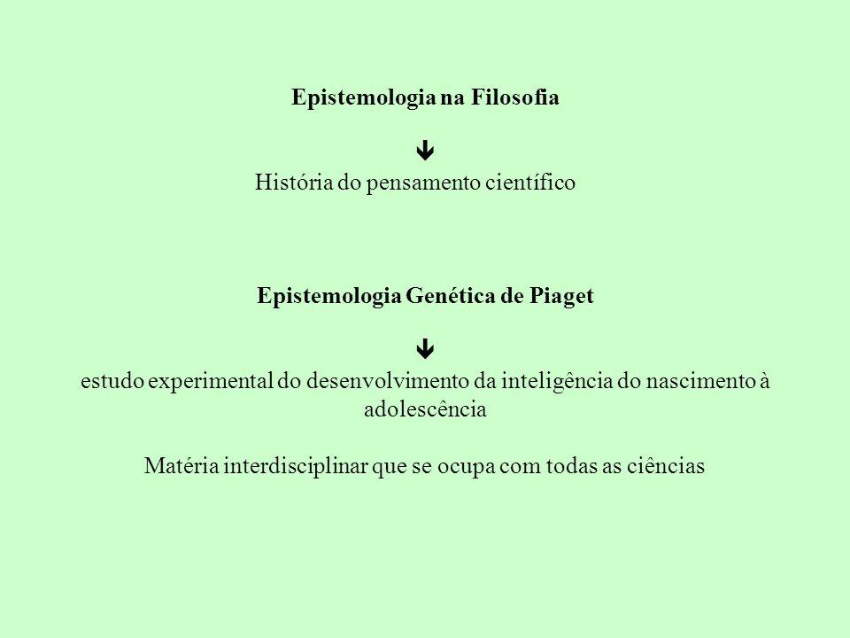 Epistemologia na Filosofia  História do pensamento científico