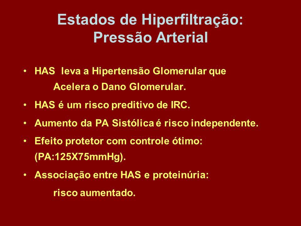 Estados de Hiperfiltração: Pressão Arterial