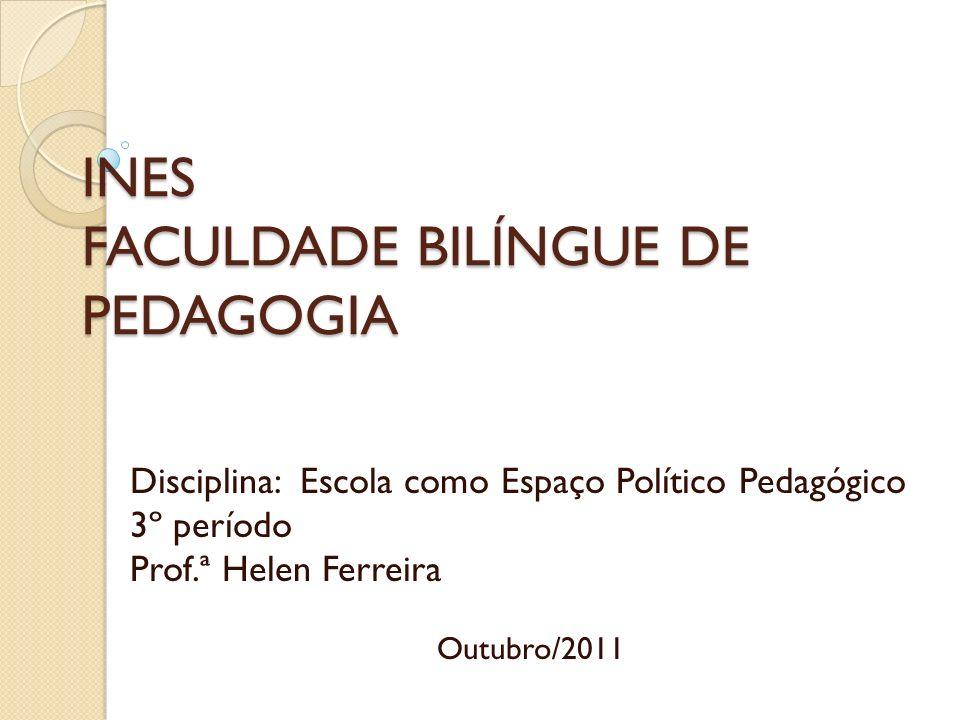 INES FACULDADE BILÍNGUE DE PEDAGOGIA