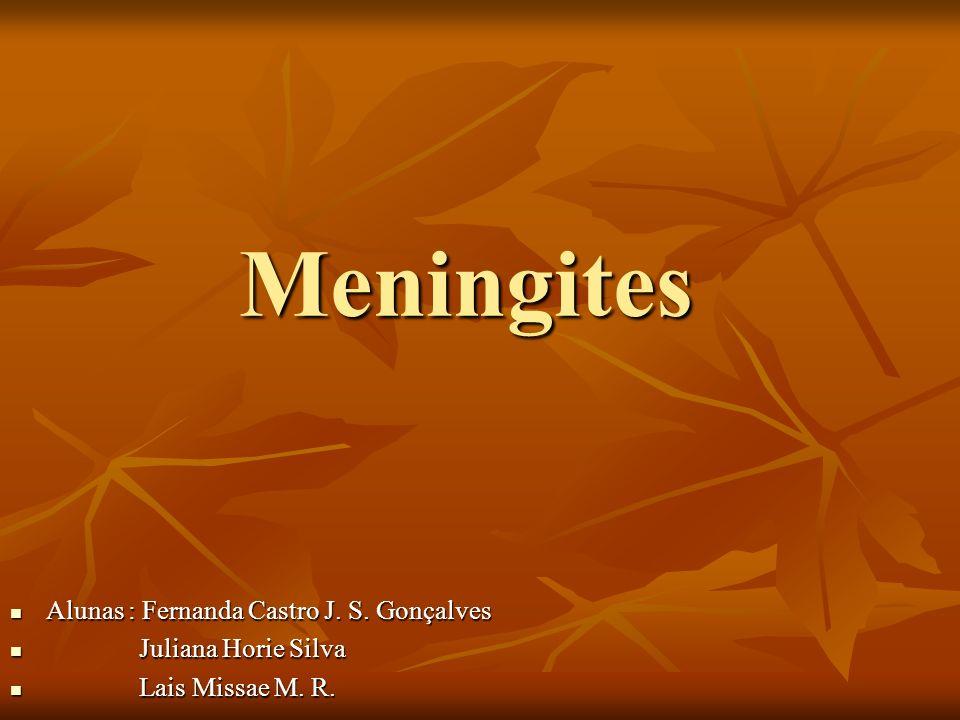 Meningites Alunas : Fernanda Castro J. S. Gonçalves