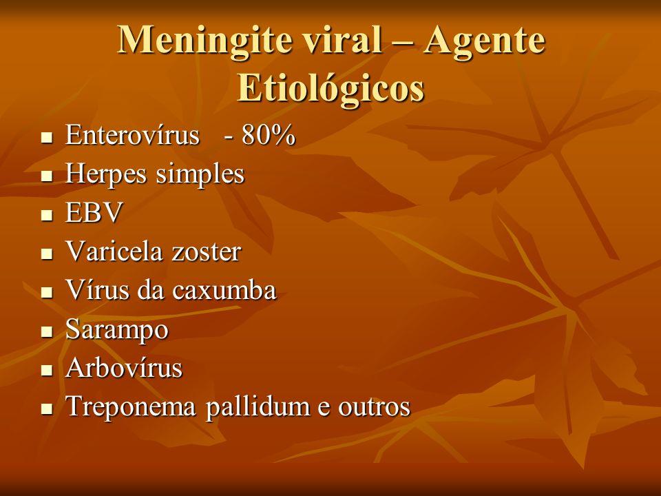 Meningite viral – Agente Etiológicos
