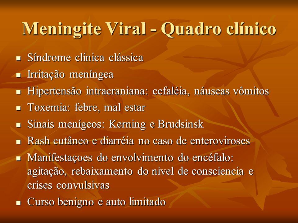 Meningite Viral - Quadro clínico