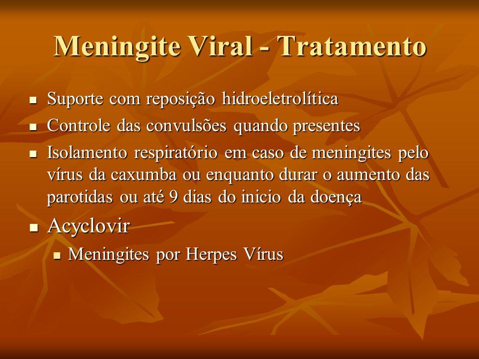 Meningite Viral - Tratamento