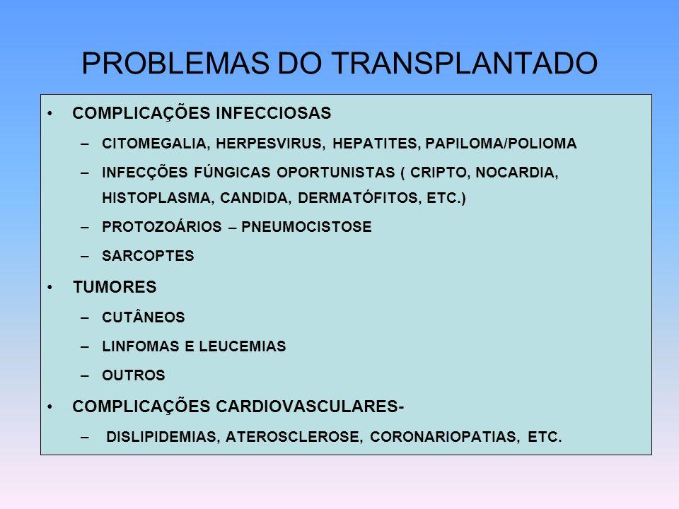 PROBLEMAS DO TRANSPLANTADO