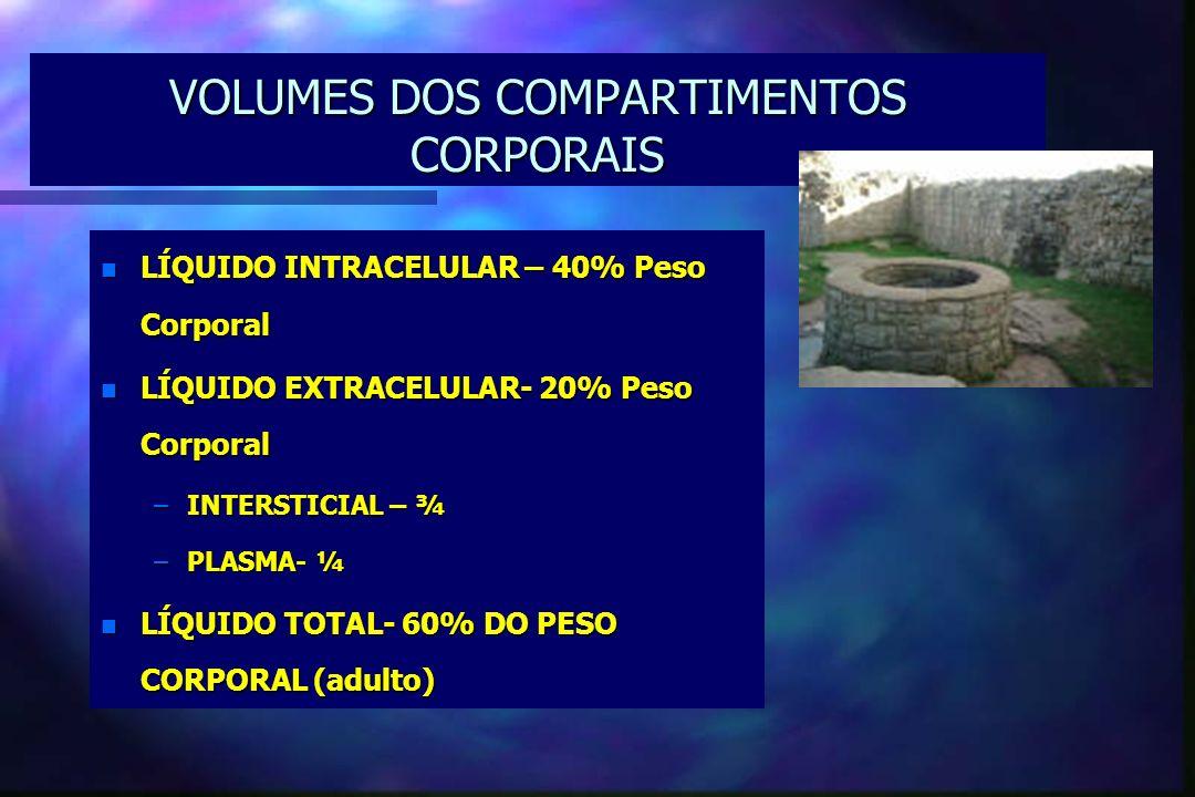 VOLUMES DOS COMPARTIMENTOS CORPORAIS