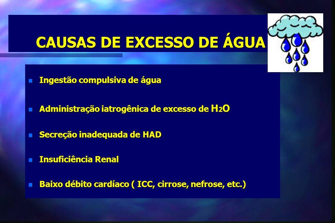 CAUSAS DE EXCESSO DE ÁGUA