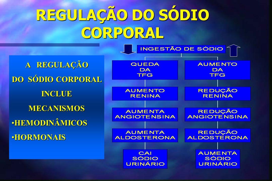 REGULAÇÃO DO SÓDIO CORPORAL