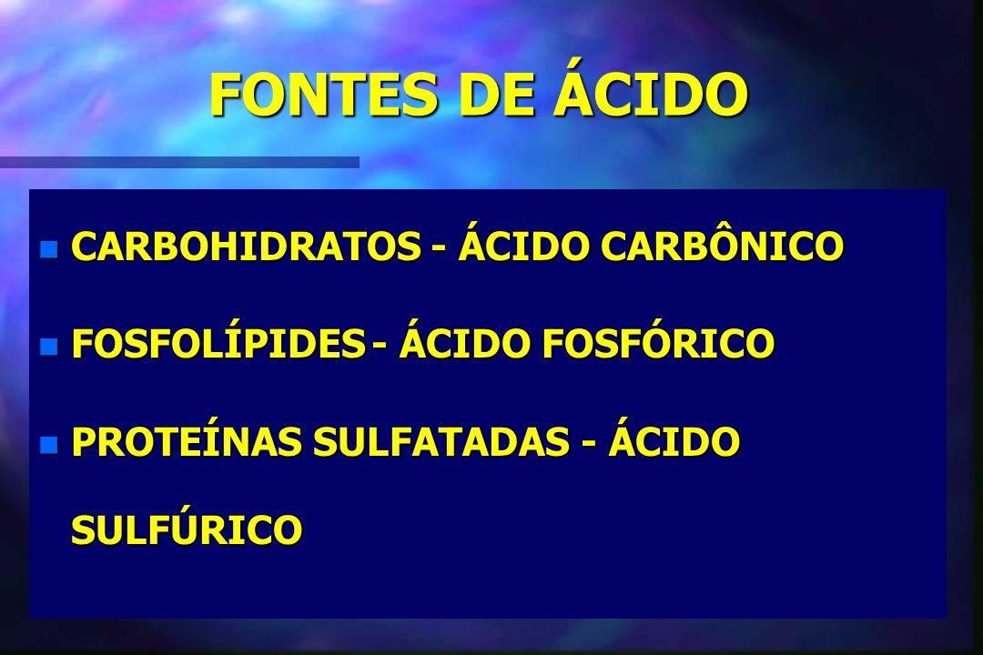 FONTES DE ÁCIDO CARBOHIDRATOS - ÁCIDO CARBÔNICO