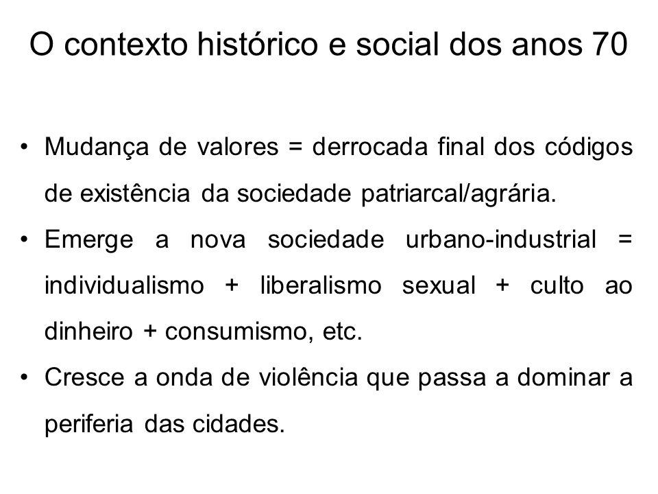 O contexto histórico e social dos anos 70